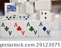 Mahjong set with four Aces 29123075