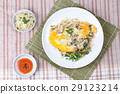 Oyster omelet with herb call Hoi Tod Khai in Thai 29123214