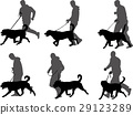 dog, silhouette, vector 29123289