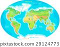 大洲 地图 星球 29124773