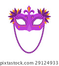 Mardi Gras Mask Isolated on White Background. 29124933