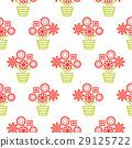 outline, flower, seamless 29125722