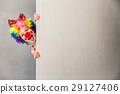 Funny kid clown playing indoor 29127406
