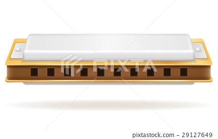 harmonica wind musical instruments stock vector 29127649