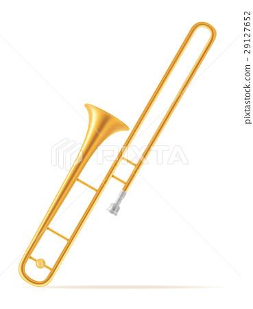 trombone wind musical instruments stock vector 29127652