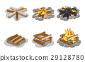 collection, firewood, vector 29128780