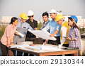 Group of engineers and architects  29130344