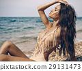 Sensual lady at beach 29131473