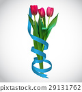 Realistic Vector Illustration Colorful Tulips 29131762