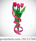 Realistic Vector Illustration Colorful Tulips 29131768