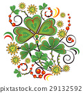 Floral ornament in Hohloma style. Russian folklore 29132592