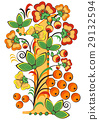 Floral ornament in Hohloma style. Russian folklore 29132594