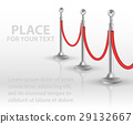 Stand rope barriers open. vector illustration 29132667
