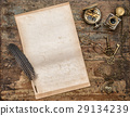 Used paper sheet vintage writing tools  29134239