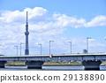 도쿄 도시 풍경 도쿄 스카이 트리와 히라이 대교 29138890
