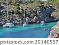 The cove cala pi at mallorca, sailboats 29140537