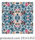 Colorful ornamental floral paisley shawl, bandanna 29141453