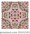 Colorful ornamental floral paisley shawl, bandanna 29141543