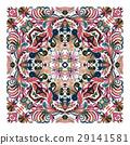 Colorful ornamental floral paisley shawl, bandanna 29141581