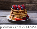 Pancakes with berries 29142456
