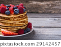 Pancakes with berries 29142457