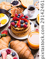 Breakfast with pancakes 29142461