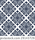 Floral ornamental decoration pattern 29143726
