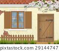 spring old facade window wooden door 29144747
