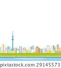 东京天空树和城市景观 29145573