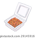 natto, fermented soybeans, puck 29145916