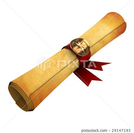 old paper scroll - Stock Illustration [29147193] - PIXTA