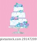 婚禮蛋糕例證 29147209