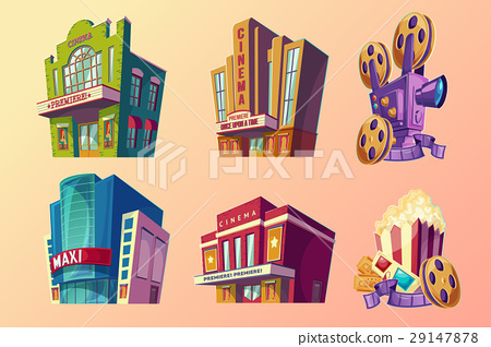 Set of vector isometric illustration of buildings 29147878