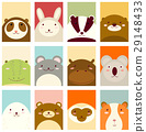 Set of banners with cute animals 29148433