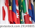 group of international flags 29149805