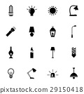 Vector black light icons set 29150418