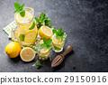 Lemonade with lemon, mint and ice 29150916