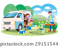 Camper and barbecue 29151544