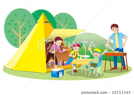 Family camping 29151545