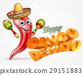 Happy Cinco De Mayo Chilli Pepper Mexican Design 29151883