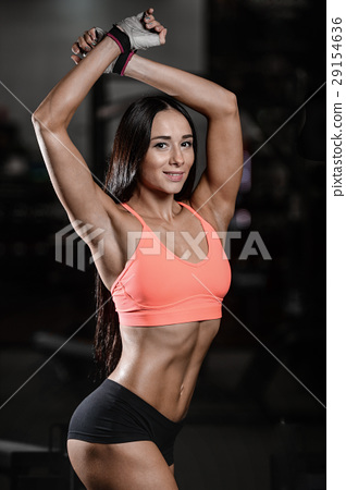 young sexy fitness woman train and exercising in gym healthy. 29154636