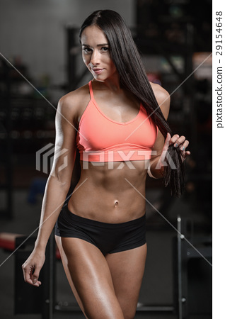 young sexy fitness woman train and exercising in gym healthy. 29154648