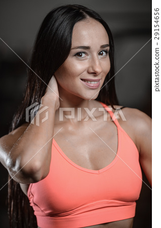 young sexy fitness woman train and exercising in gym healthy. 29154656