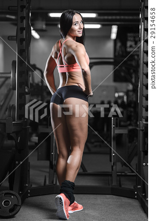 young sexy fitness woman train and exercising in gym healthy. 29154658
