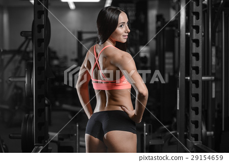 young sexy fitness woman train and exercising in gym healthy. 29154659