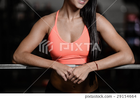 young sexy fitness woman train and exercising in gym healthy. 29154664