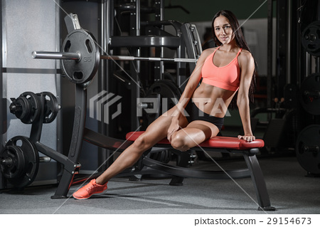 young sexy fitness woman train and exercising in gym healthy. 29154673
