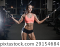 young sexy fitness woman train and exercising in gym healthy. 29154684