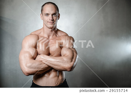 young man train in gym sexy caucasian man 29155714