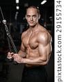 锻炼 臂 健身房 29155734